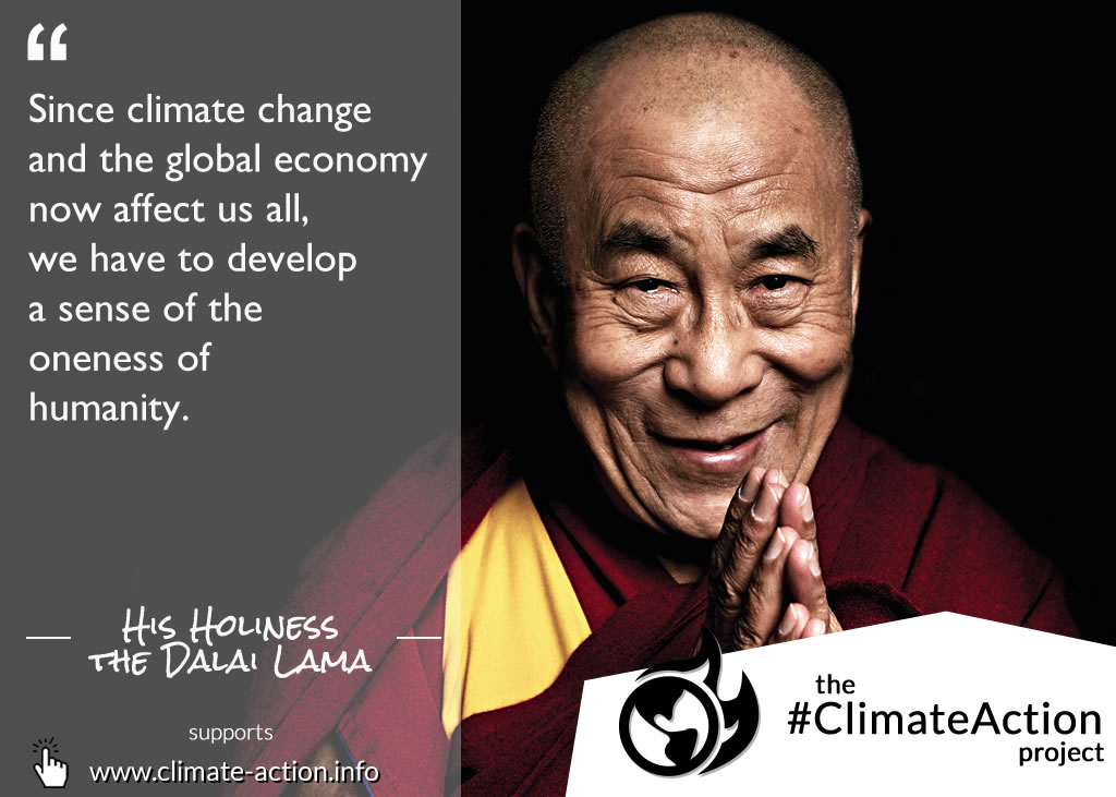 His Holiness Dalai Lama quote Climate Action
