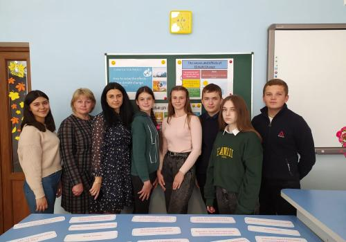 """We are the best and the most creative Ukrainian team ''EcoLeaders"""", we study at School №11 of Romny, Sumy  region. The most active participants of our team are: Ruslan Yuhymchuk, Dima Melnik, Alina Kononenko, Dasha Kostenko, Ann Moskalyk, Dasha Kurylo, Maryna Yermolovych. Our educators are: Liudmyla Bakai, Vikoria Zelenska, Liudmyla Melnik. We are ready to change the world for better because we love the Earth and don`t want to be the observers of Climate change."""