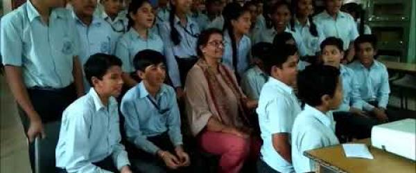 Embedded thumbnail for Students of Kamla Nehru Public School, India are sharing their insights and findings of Climate Action Project with the students of other schools of different countries.