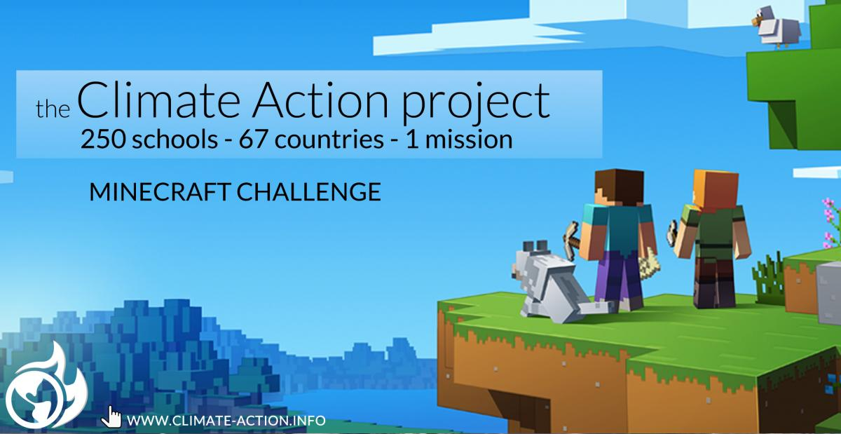 minecraft challenge climate action project