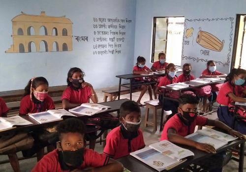 Class room of mohbandha bagan L P