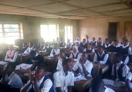 Students of Notre-Dame Grammar School, Usi Ekiti reflecting on their Project Based Learning.